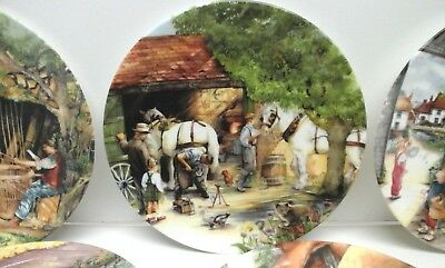 Royal Doulton - Old Country Crafts Series by Susan Neale - Collector Plates x 8