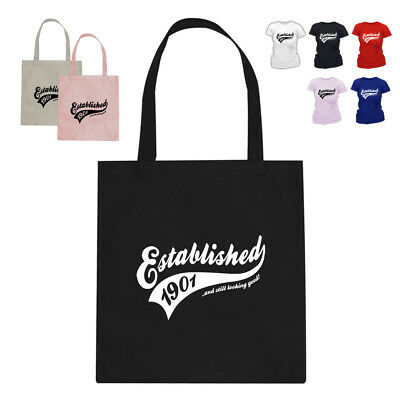 Established 1901 117th Birthday Gift Tote Bag Many Colours