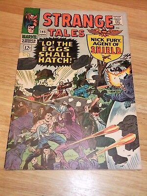 Marvel Comic Strange Tales Issue 145 June 1966 SHIELD Dr Strange