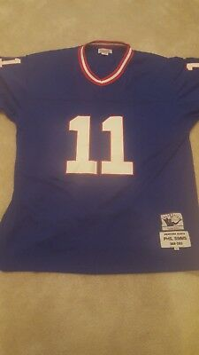ac6ec79384d NWT Mitchell & Ness New York Giants Phil Simms 11 Royal Blue Throwback  Jersey