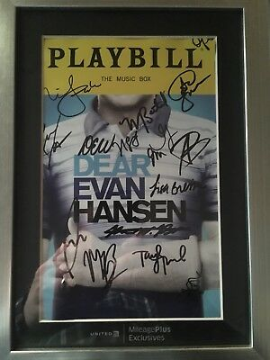 Dear Evan Hansen Full Cast Signed Playbill Framed