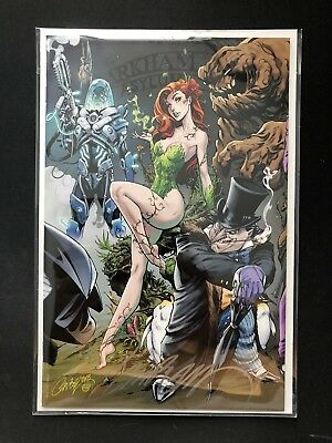 SIGNED Batman #50 J Scott Campbell VIRGIN Variant B COA Batwoman Wedding DC NM