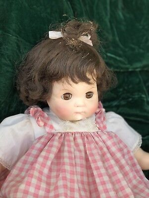"Madame Alexander Vintage 1965 20"" Puddin Tagged Dress  BROWN EYES, HAIR"