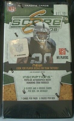 2008 Score NFL Football Blaster Box Factory Sealed 11 Packs 77 Total Cards