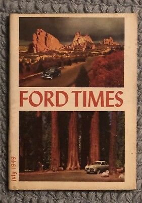 Ford Times Factory Magazine Brochure July 1949