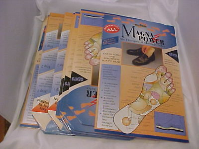 9 pairs MAGNA POWER THERAPEUTIC MASSAGE SOLES insoles magnet therapy MENS