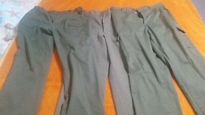 Boy Scout Cotton Pants 36 Waist Lot of 3