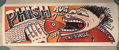 Jim Pollock Gorge Phish Poster Aug 7th 2009 Signed / #