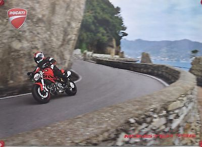 """19 X 27"""" Ducati Monster 796 Double Sided Two-Sided Wall Promotional Poster New"""
