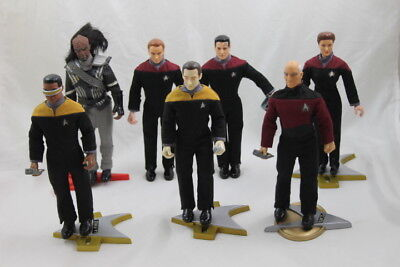 Lot of 7 Playmates Star Trek Action Figures Toys Collector Series 1994-97 9""