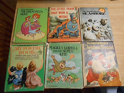10 vintage Wonder Books HC Magilla Gorilla, The Jetsons Romper Room More!