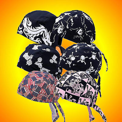 **NEW**Do Rags Skull Caps- Set No.3-Set of 6 Assorted--Buy 2--Have Matching Sets