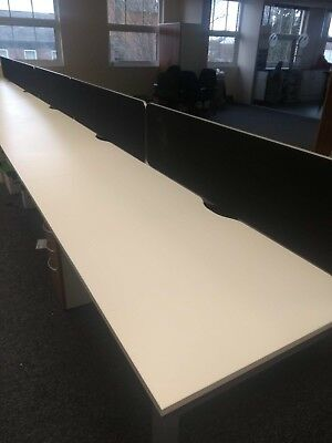 Black Straight Screens Partition Desk Dividers Office Furniture(13 In Stock)