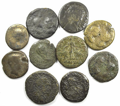 Group of 10 Ancient Roman Provincial Large Bronze Coins (06)