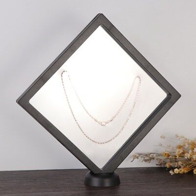 Square 3D Albums Floating Frame Holder Coin Box Jewelry Display Show Case AU