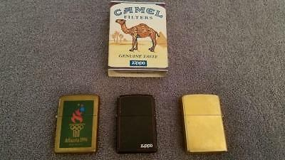 VINTAGE ZIPPO LIGHTER Lot of 4 Cigarette Lighters