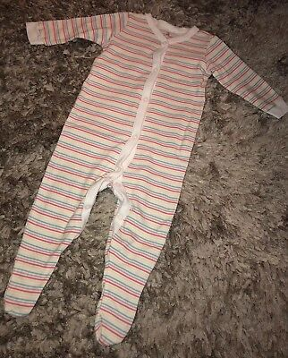 Baby Girls Striped Sleepsuit From Next - Size 6-9 Months