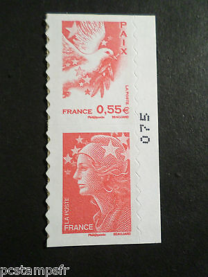 FRANCE 2008, PAIRE timbre 175 et 178 MARIANNE BEAUJARD neuf**, AUTOADHESIF, MNH