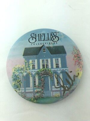Shelia's Collectibles Button Pin Pinback Signed Autographed Collectible Houses