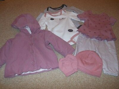 Mamas and Papas Baby Girl Coat/Hat/Mittens/Top/Leggings/Bodysuits 0-3 mths