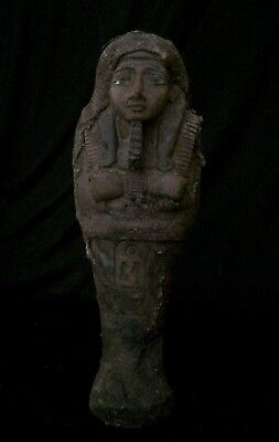 RARE EGYPT EGYPTIAN ANTIQUE Ushabti Statue King Shabti Carved Stone 1189-1077 BC