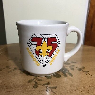 BSA Boy Scouts Collectible Coffee Mug Diamond Jubilee 75th Anniversary