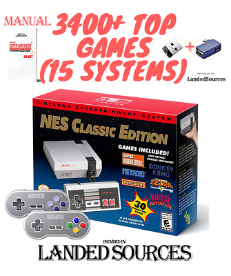 Nintendo Entertainment System: NES Classic Edition 3400+ Games Modded Bundle