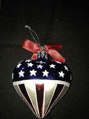 Waterford stars and stripes Christmas ornament