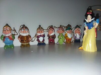 Disney Snow White And The Seven Dwarfs Miniature Ornaments