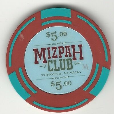 Mizpah Club Casino, Las Vegas, Vintage $5 Chip, 2016, Not In Tcr
