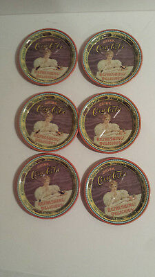 Coca Cola Coke Louisville 75 years bottling 1976 dated lot 6 Coasters metal lady