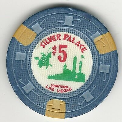"Silver Palace Casino, Las Vegas, Vintage $5 Chip, 1963, N7215, Value ""j"""