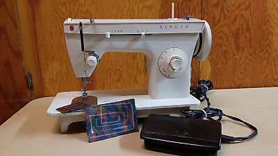 Singer 247 Heavy-duty Sewing Machine Leather Upholstery Denim Serviced
