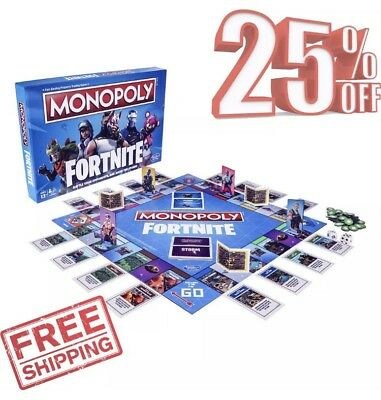 Monopoly: Fortnite Special Edition Fast-Dealing Trading Board Game by Hasbro