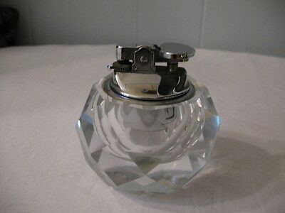 Vintage Glass/lead Crystal Table Top Lighter