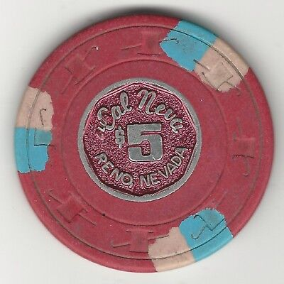 "Cal Neva Casino, Las Vegas, Vintage $5 Chip, 1997, N4984.l, Value ""h"""