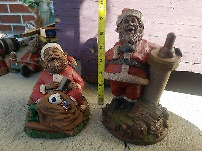 Vintage Tom Clark Christmas Gnome Joyful Noise Santa Claus and Santa baby