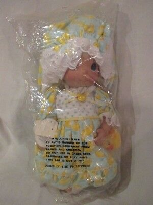 Precious Moments Just Ducky unopened vinyl doll with blanket and rubber duck 12""