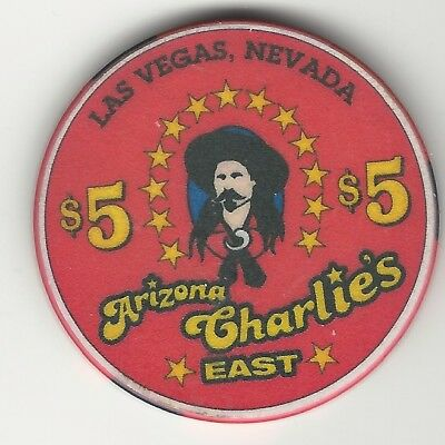 Arizona Charlie's East Casino, Las Vegas, Vintage $5 Chip, 2000, V3671