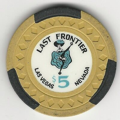 "Last Frontier Casino, Las Vegas, Vintage $5 Chip, 1959, N1671, Value ""h"""