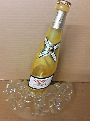 VINTAGE 1960s MILLER HIGH LIFE CHAMPAGNE OF BEER  BOTTLE ON ICE BUCKET TOPPER