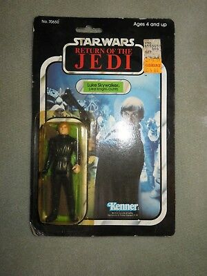 Star Wars Kenner Vintage 1983 Luke Skywalker Jedi Knight Outfit Cardback SEALED