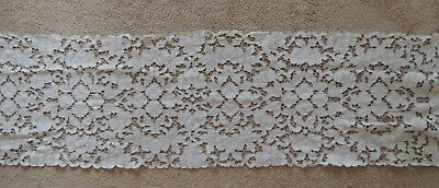 VENISE LACE Antique Table RUNNER   60- 16 INCH