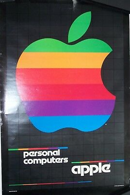 Vintage Apple Computer classic rainbow poster 1980