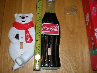 Coke Cola Polar Bear & Coke Bottle Light Switch Plate