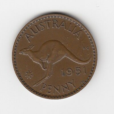 1951L Australia Kgvi Penny - Very Nice Collectable Vintage Coin