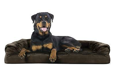 NEW Extra Large Jumbo Pet Dog Bed Orthopedic Ultra Plush Soft Sofa Couch Brown