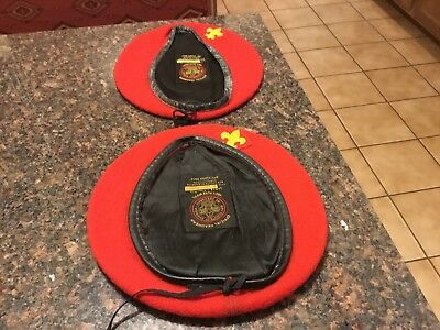 Boy Scout Red Wool Berets  Medium And Large