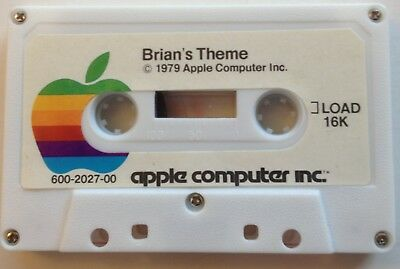1979 Apple II Cassette Tape with Phone List / Brian's Theme