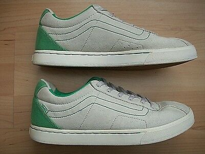 519b8a77da RARE VANS GEOFF ROWLEY SLIMS SUEDE LIGHT GRAY GREEN MEN S SKATE SHOES 10